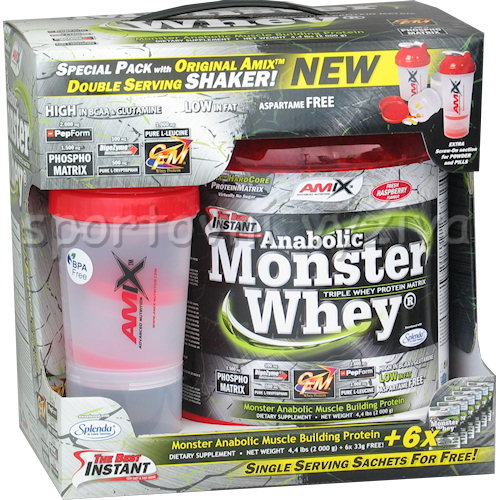 Anabolic Monster Whey 2200g + Monster Anabolic Monster Whey 2200g + Monster