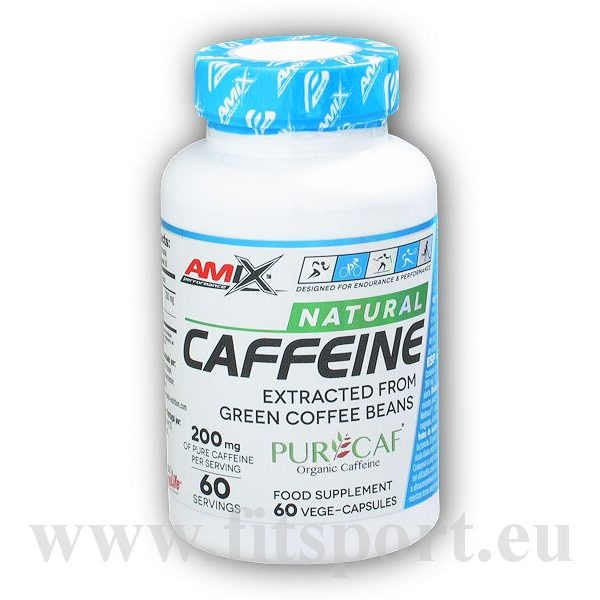 Caffeine Natural 200mg 60 kapslí Caffeine Natural 200mg 60 kapslí