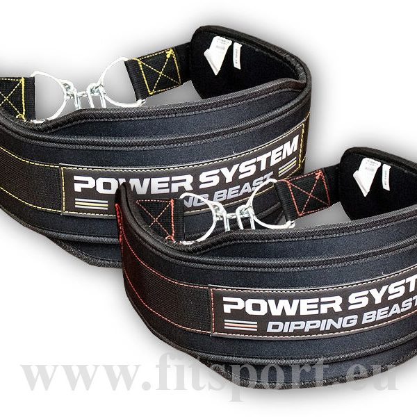 Powersystem DIPPING BEAST opasek – 3860-black-yellow Powersystem DIPPING BEAST opasek – 3860-black-yellow