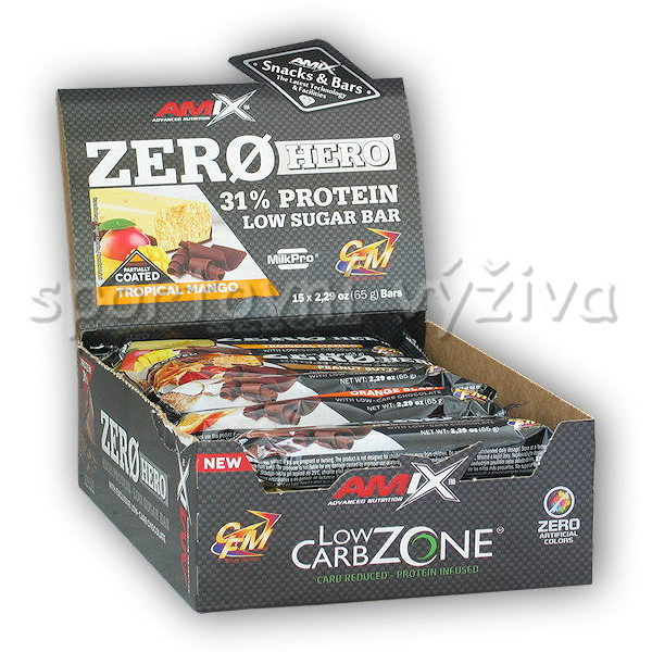 15x Zero Hero High Protein Low Sugar Bar 15x Zero Hero High Protein Low Sugar Bar