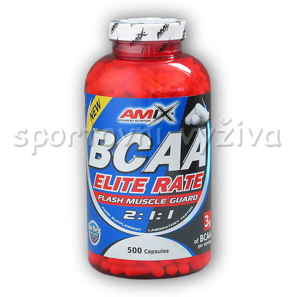 BCAA Elite Rate 500 kapslí BCAA Elite Rate 500 kapslí