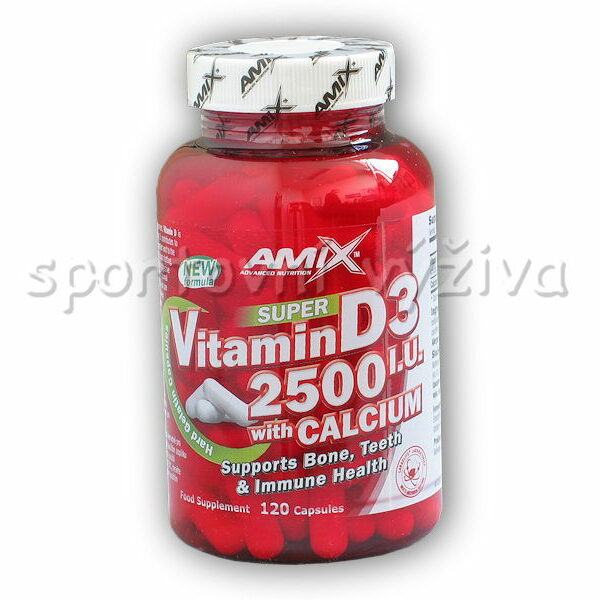 Super Vitamin D3 2500I.U. with Calcium 120cps Super Vitamin D3 2500I.U. with Calcium 120cps