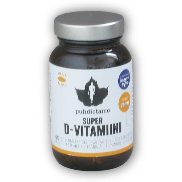 Super D-Vitamiini 4000IU 60 kapslí Super D-Vitamiini 4000IU 60 kapslí