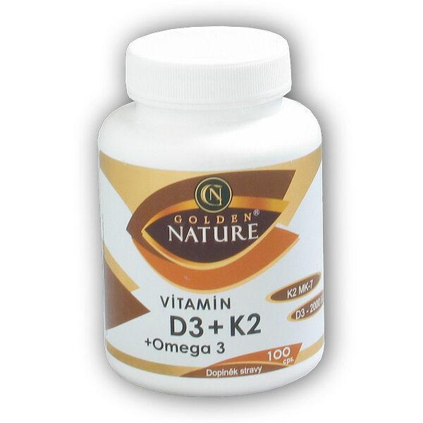 Vitamin D3 + K2 + Omega 3 100 kapslí Vitamin D3 + K2 + Omega 3 100 kapslí